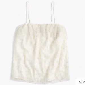 J. Crew Fluttery Ivory Lace Cami Tank Top Large